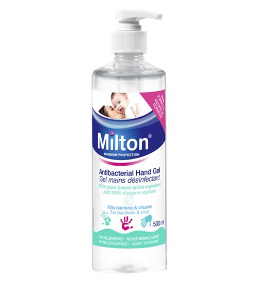 Milton antibacterial hand gel 500ml - Natural Ethos