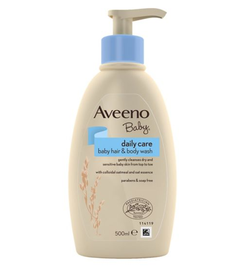 Aveeno Baby Daily Care Baby Hair & Body Wash 500ml - Natural Ethos