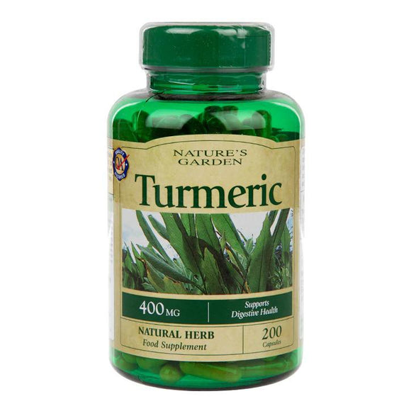 Holland & Barrett Nature's Garden Turmeric 400mg containing Curcumin 200 Capsules