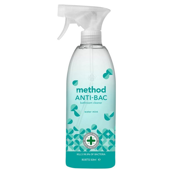 Method Antibac Bathroom Cleaner Water Mint 828ml - Natural Ethos