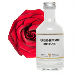 Amphora Aromatics Organic Rose Water (Hydrolate) 250ml - Natural Ethos