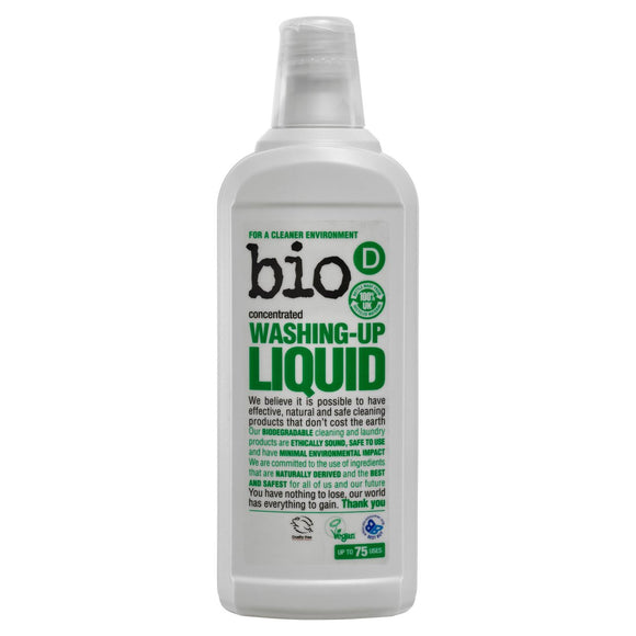 Bio-D Washing Up Liquid 750ml - Natural Ethos