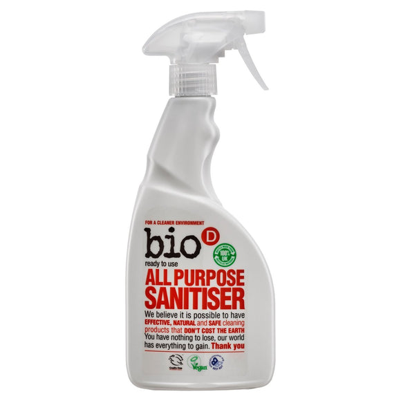 Bio-D All Purpose Sanitiser Spray 500ml - Natural Ethos