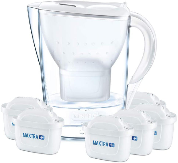 BRITA Marella Water Filter with 6 BRITA MAXTRA+ Cartridges - Natural Ethos