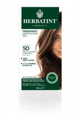 Herbatint 5D Light Golden Chestnut 150ml - Natural Ethos