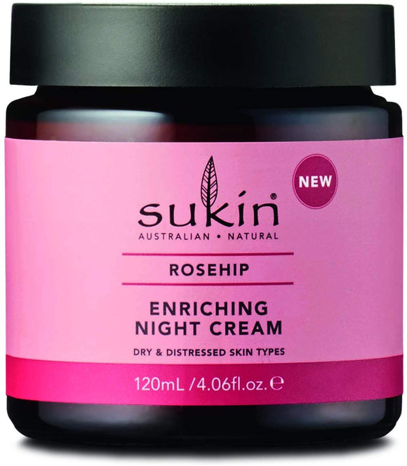 購買澳洲Sukin玫瑰果豐盈晚霜120ml - Buy Sukin Sukin Rose Hip Enriching Night Cream 120ml and other Sukin products with delivery