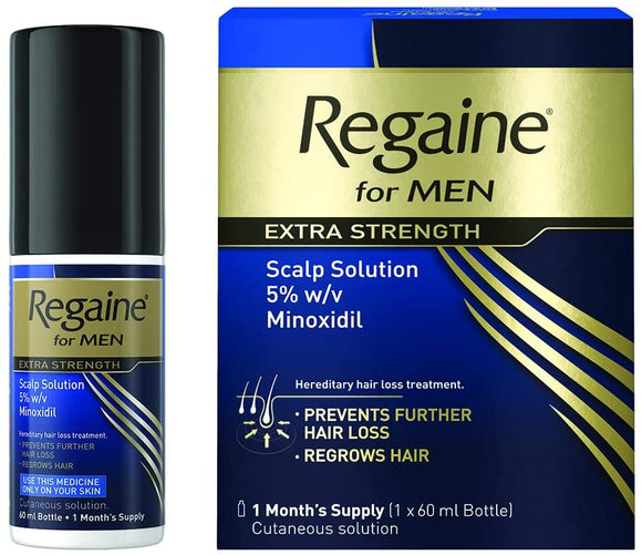 購買Regaine倍健男仕專用防脫髮生髮水60毫升(一個月份量) - Buy Regaine Regaine for Men Extra Strength Hair Loss & Regrowth Scalp Solution with Minoxidil and other Regaine products with delivery