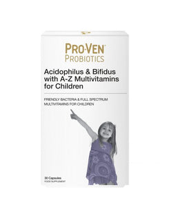 ProVen Probiotics Lactobacillus & Bifidus A-Z Multivits Child Tablets 30 Capsules - Natural Ethos