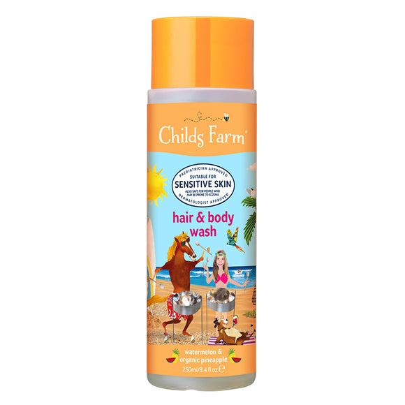 Childs Farm hair & body wash, watermelon & organic pineapple 250ml - Natural Ethos