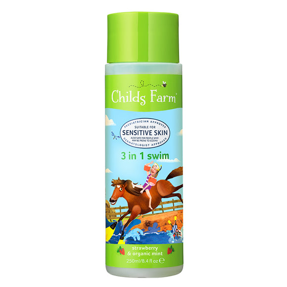 Childs Farm Strawberry & Mint 3 In 1 Swim 250ml - Natural Ethos