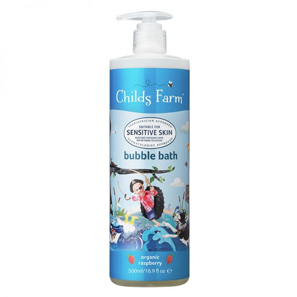 Childs Farm bubble bath organic raspberry 500ml - Natural Ethos