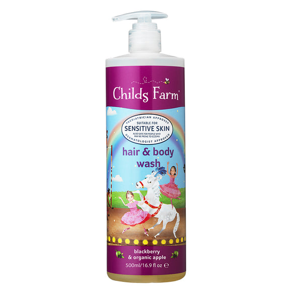 Childs Farm hair & body wash blackberry & organic apple 500ml - Natural Ethos
