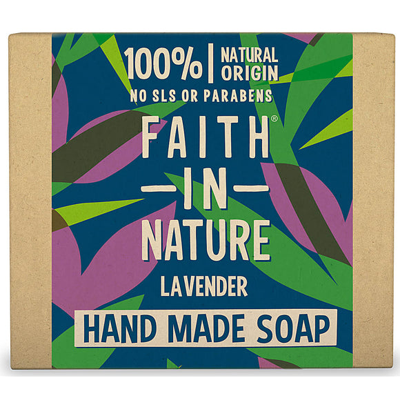 Faith In Nature Organic Lavender Hand Made Soap 100g - Natural Ethos