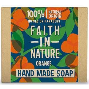 Faith In Nature Organic Orange Hand Made Soap 100g - Natural Ethos