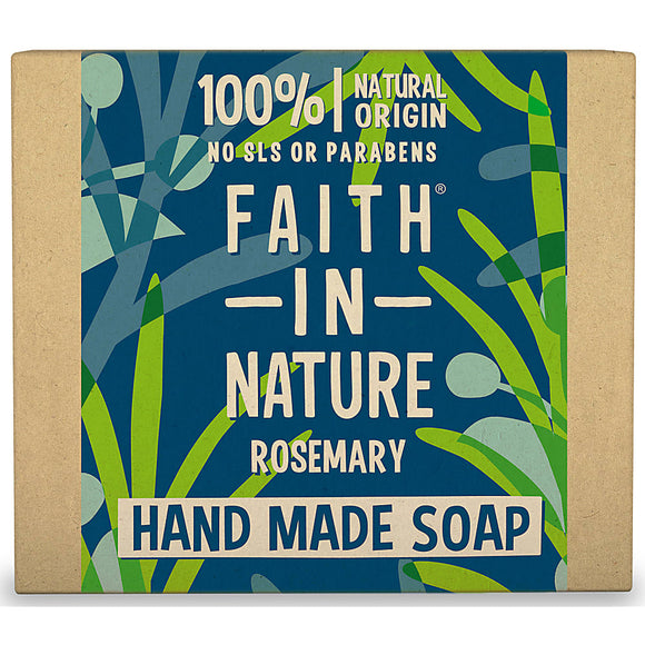 Faith In Nature Organic Rosemary Hand Made Soap 100g - Natural Ethos