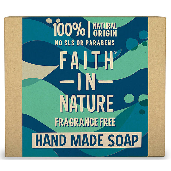 Faith In Nature Organic Seaweed Unfragranced Hand Made Soap 100g - Natural Ethos