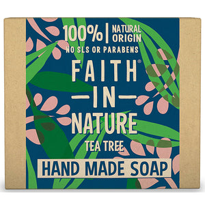 Faith In Nature Organic Tea Tree Hand Made Soap 100g - Natural Ethos