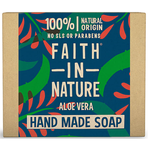Faith In Nature Organic Aloe Vera Hand Made Soap 100g - Natural Ethos
