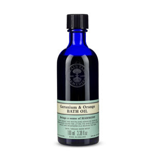 Geranium & Orange Bath Oil (100ml) - Natural Ethos