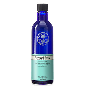 Geranium & Orange Foaming Bath (200ml) - Natural Ethos