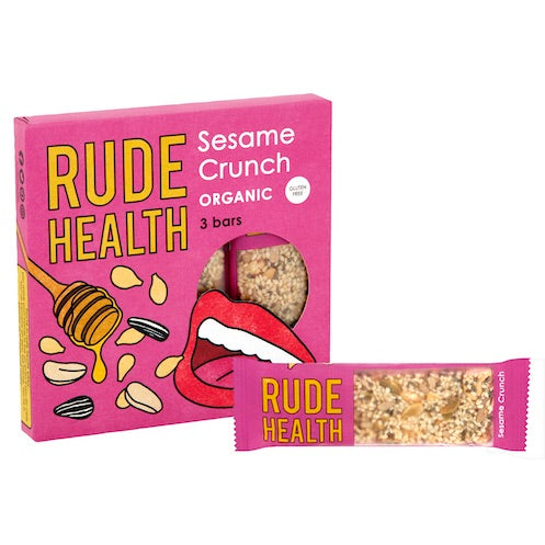 Rude Health Organic Sesame Crunch Bar Multipack - Natural Ethos