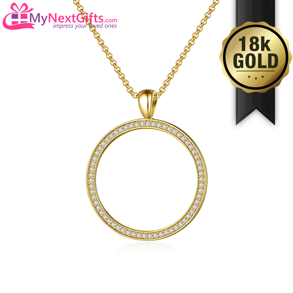 18K Gold Plated - Personalized Name and Memorial Years Necklace