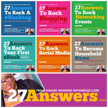 Load image into Gallery viewer, 27 Answers Six Pack eBook Bundle to Create Buzz | Books by DryerBuzz