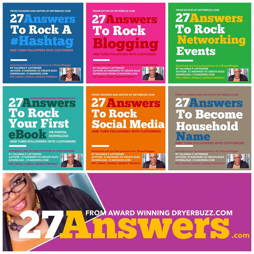 27 Answers Six Pack eBook Bundle to Create Buzz | Books by DryerBuzz