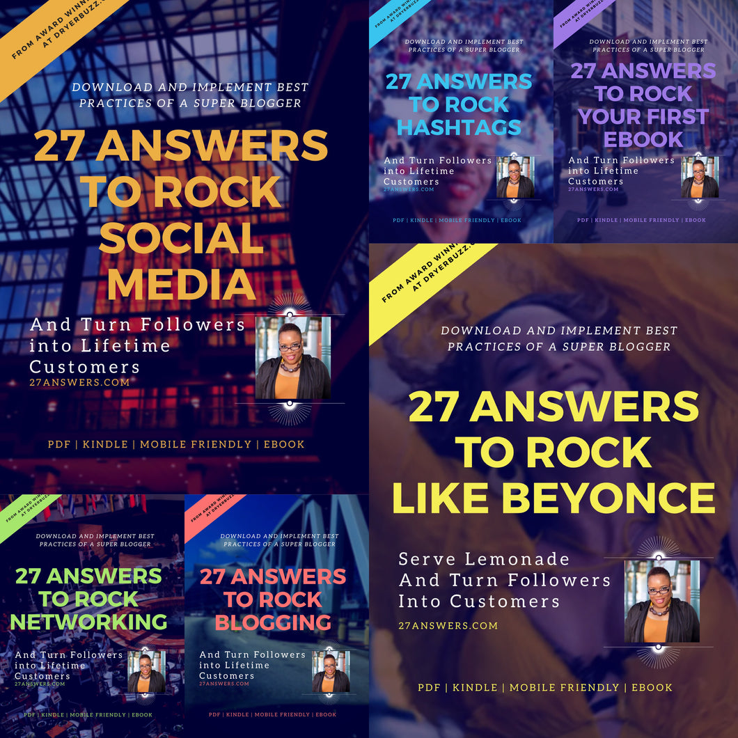 27 Answers Six Pack Insta Bundle to Create Buzz | Books by DryerBuzz