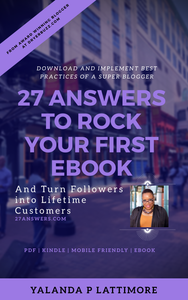 27 Answers to Rock Your First eBook | Books by DryerBuzz
