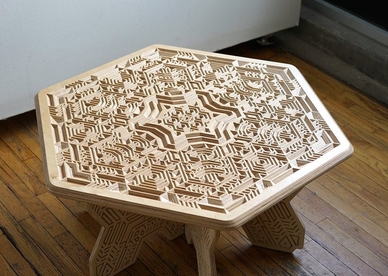 Mike Cole x Cerebral Concepts Wood Table