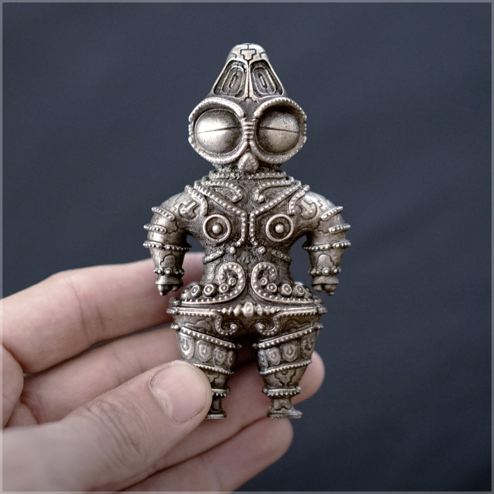 Skakoki Dogu Sculpture - Pewter Cast by Ben Ridgway