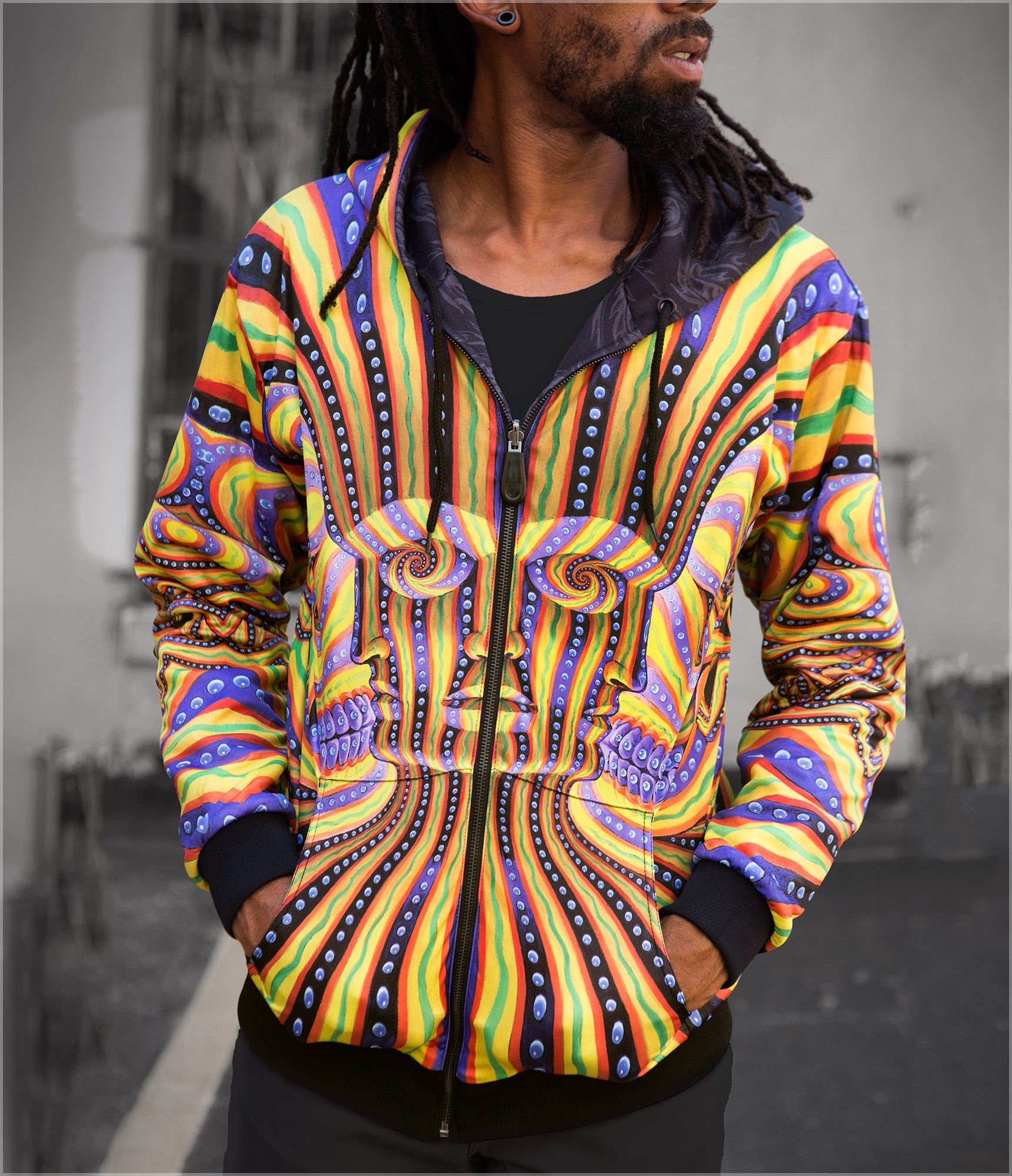 Bardo Being Reversible Heavyweight Hoodie by Alex Grey