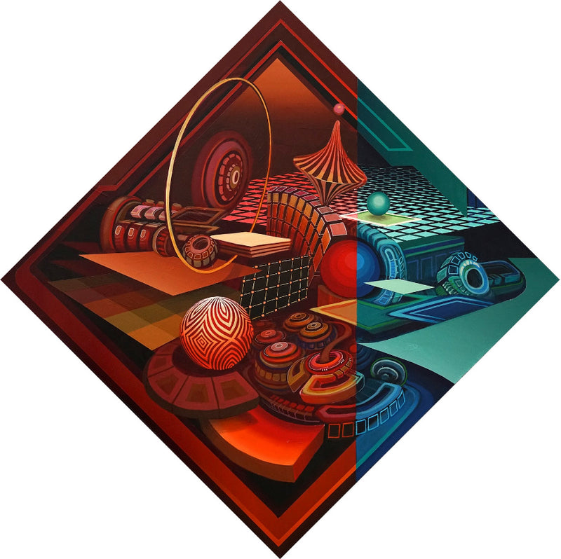 "Chromix Stretched Canvas by Stephen Kruse - 36"" x 36"""