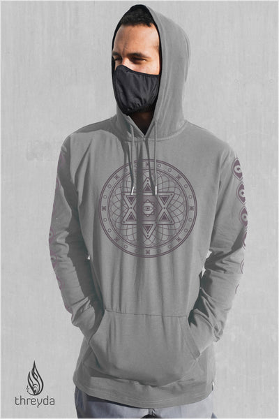 Halo Screenprint Lightweight Pullover by Threyda