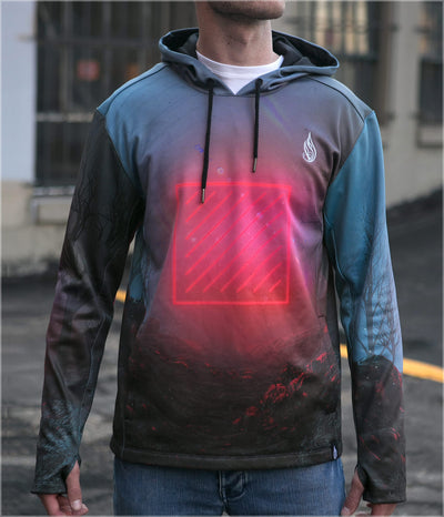 Red Grid Midweight Pullover by Beeple - Ships 11/2018