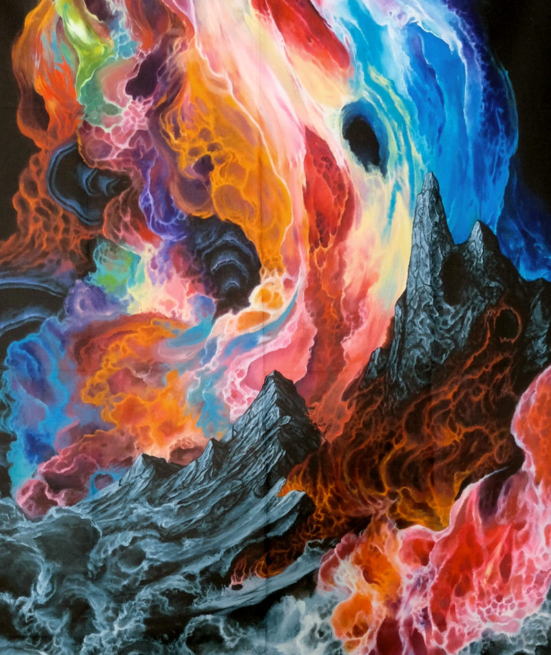 Eternal Flame Tapestry by Anthony Hurd