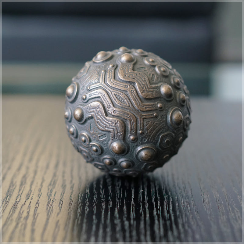 Orb Artifact Bronze Sculpture