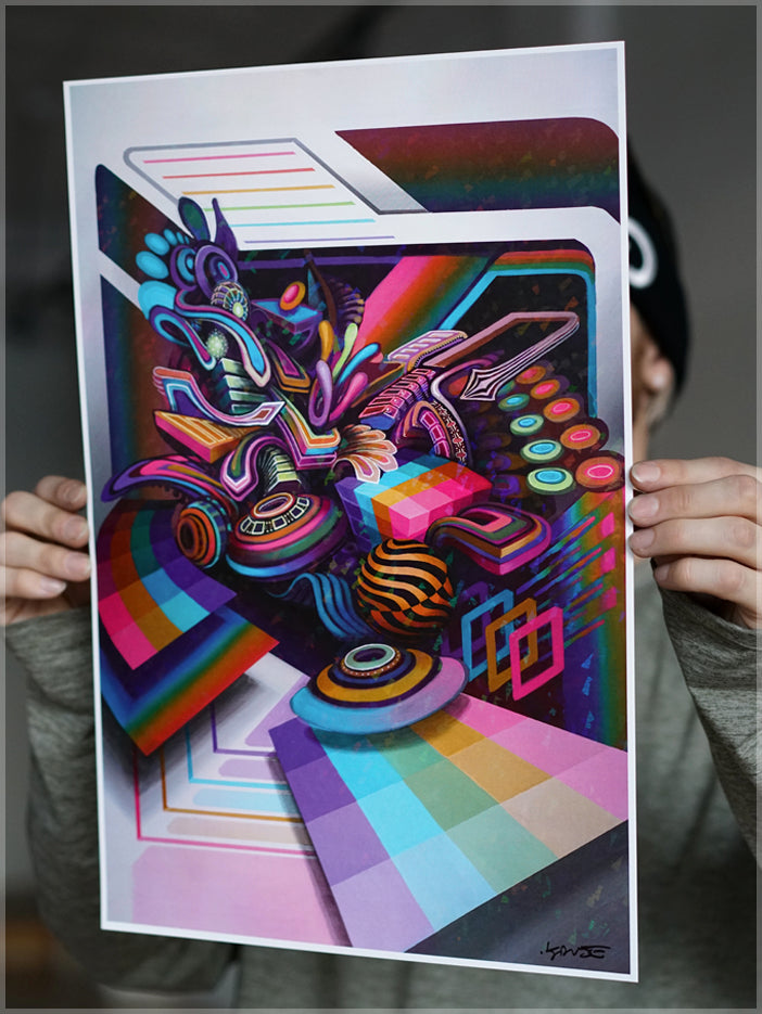 Tantrum Signed Foil Print by Stephen Kruse