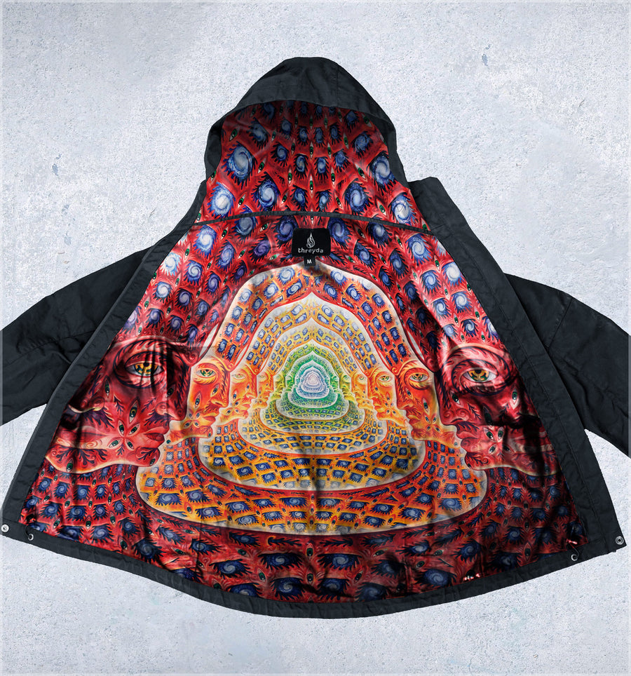 Net of Being Obsidian Jacket by Alex Grey