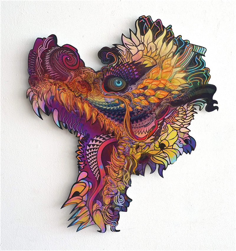 Hummingdragon Aluminum Print by Android Jones
