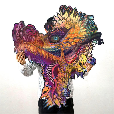 Hummingdragon XL Aluminum Print by Android Jones