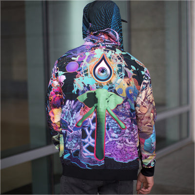 Dose King Reversible Satin Jacket by Android Jones - Small Size