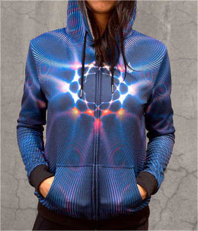 Light Intervals Women's Sherpa Hoodie by Andy Gilmore