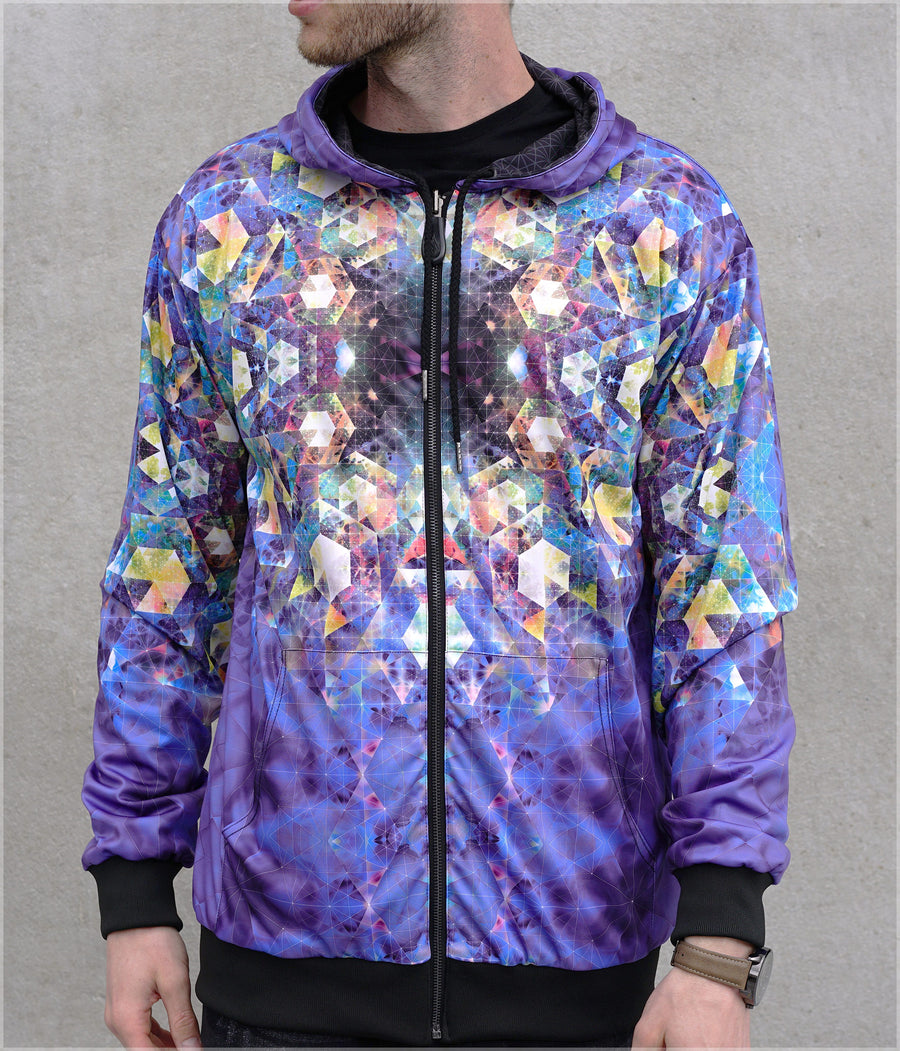Nebula Lightweight Reversible Satin Jacket by Andy Gilmore