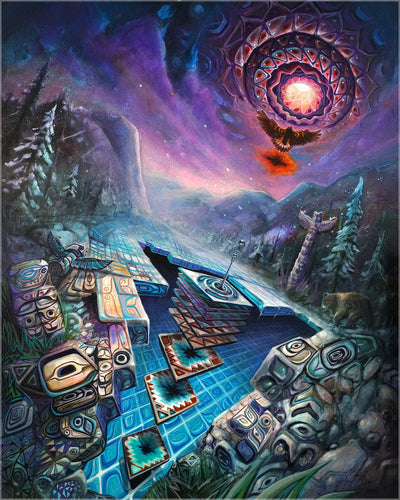 Astrila Signed Canvas by Jake Amason x Omeka One - 24x30 in.