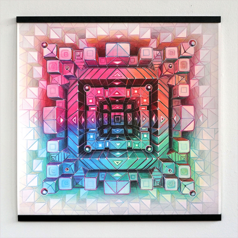 Atrium Signed Canvas Print + Floating Frame by Jake Amason
