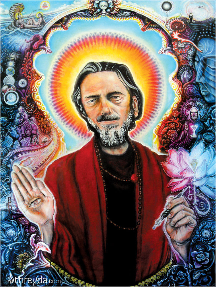 Portrait of Alan Watts by Randal Roberts , Art Print - Randal Roberts, Threyda
