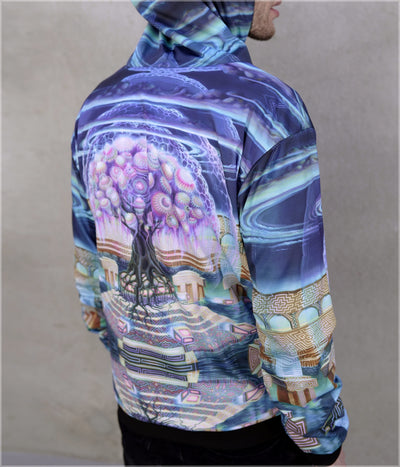 Roots of Creation Lightweight Reversible Satin Jacket by Blake Foster