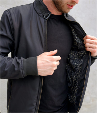 Transverse Funnel Neck Bomber by Threyda - Backstock Available